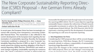 The New Corporate Sustainability Reporting Directive (CSRD) Proposal – Are German Firms Already Compliant?